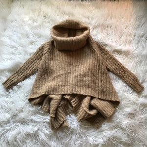 MICHAEL KORS TAN CHUNKY KNIT TURTLENECK SWEATER